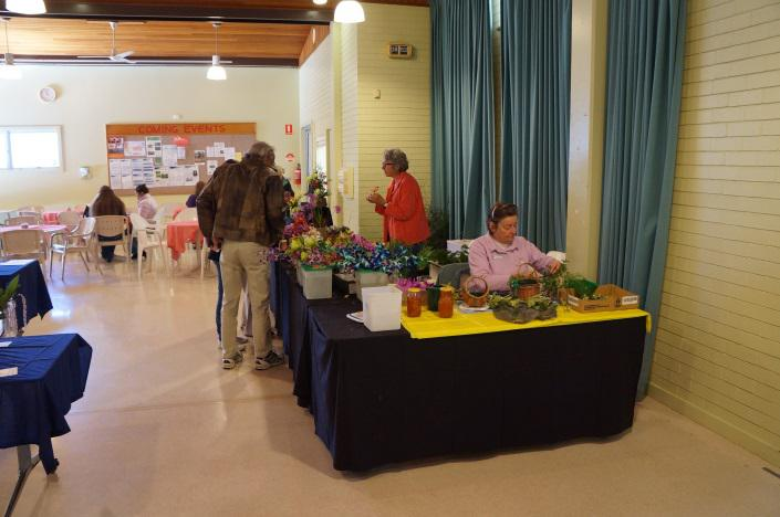 Floral art for sale at John Oxley District Orchid Society Annual Show